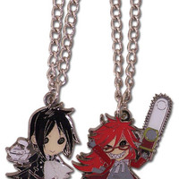 Black Butler Sebastian & Grell Necklace Set