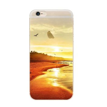 Sunset Scenery Painting Pattern Iphone 7 7 Plus &  6 6s Plus & 5 5s Cover Case