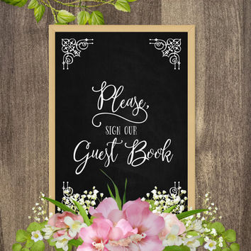 Wedding signage, Please sign our guest book sign, Wedding prints, Country wedding reception decorations, Rustic country wedding decor DIY