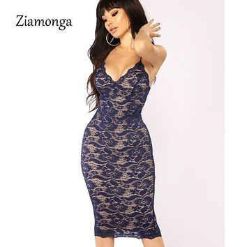 Elegant Black Patchwork Floral Embroidery Mini Lace Dress Women  Bodycon Bandage Dress