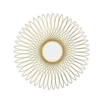 Guilloche Mirror Gold