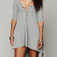 Grey High-Low Dress