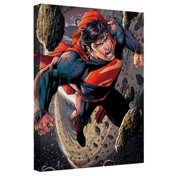 Superman - Space Flight Canvas Wall Art With Back Board