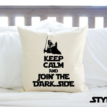 "2 Styles - Star Wars ""Keep Calm and Join the Dark Side"" Pillow"