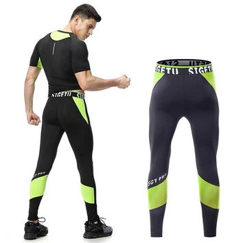 Men Running Tights Pro Compress Yoga Pants GYM Exercise Fitness Leggings Workout Basketball Exercise Men's Sports Clothing 1821