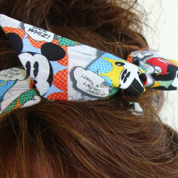 Dolly Bow Micky Comic Strip 50s Hair Style Flexible Wire Headband Teen Girl Woman
