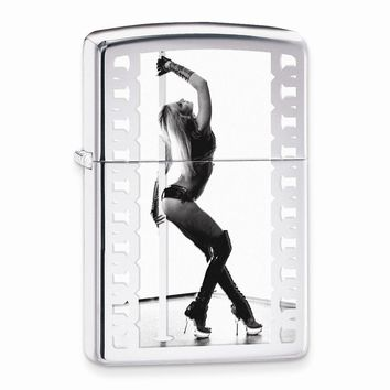 Zippo Pole Dancer High Polish Chrome Lighter