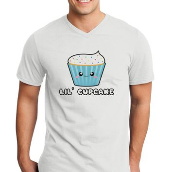 Cute Cupcake with Sprinkles - Lil Cupcake Adult V-Neck T-shirt by TooLoud