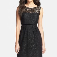 Women's Jenny Yoo 'Harlow' Metallic Lace Sheath Dress (Online Only)