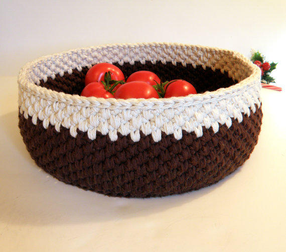 Handmade Sewing Basket : Extra large storage basket handmade from