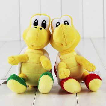 16cm Super Mario Plush Toy Koopa Troopas Red Green Turtle Tortoise Stuffed Animal Doll for Children