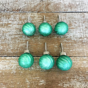 Drawer Knobs 6 Glass Drawer Pulls Green Glass Ball Knobs Mid Century Hardware Dresser Drawer Pulls Cabinet Knobs Unique Drawer Knobs