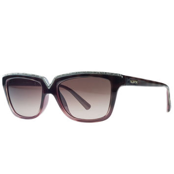 Valentino Havana/Red Rectangular Sunglasses