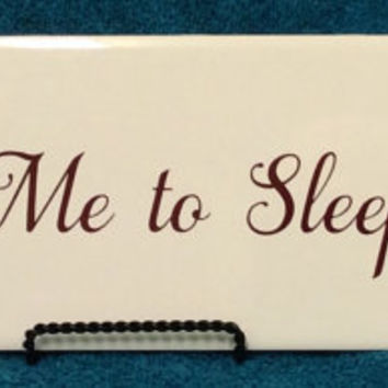 """Morrissey """"Sing me to sleep"""" ceramic tile,13""""x4"""" little stand included, custom orders available, MOZ"""