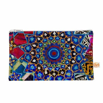 "S Seema Z ""Ethnic Explosion"" Blue Arabesque Everything Bag"