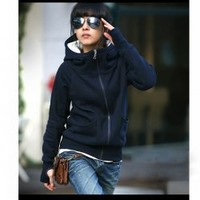 New Arrival Autumn&Winter Fashion Style Cotton Polo Neck Coat For Women