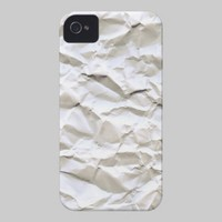 White Trash (crumpled paper texture) Case-Mate iPhone 4 Cases from Zazzle.com