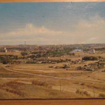 Vintage Panorama Of Great Falls Montana From Gore Hill Postcard