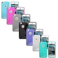 Fosmon 7 in 1 Bundle for Apple iPhone 5 5th - 7x Fosmon DURA S Series TPU Cases (Black, Pink, Purple, Blue, Green, Smoke, Clear): Cell Phones & Accessories