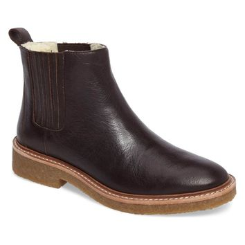 Botkier Women's Brown Chelsea Faux Shearling Lined Boot, Size 6.5 (NWOB)