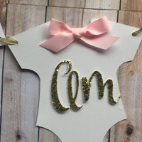 I AM ONE baby high chair banner pink,gold and & white.onsie I am 1 glitter white and pink baby banner with pink bows. 1st b-day party banner