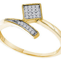 Diamond Ladies Fashion Ring in 10k Gold 0.07 ctw
