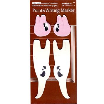 Mother and Baby Sloth Shaped Animal Memo Post-it Adhesive Bookmark Tabs