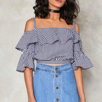 Making Waves Gingham Top