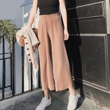 Casual Wide Leg Pants
