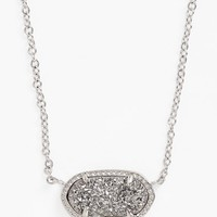 Women's Kendra Scott 'Elisa' Pendant Necklace - Silver/ Platinum Drusy