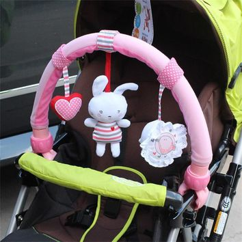 Baby stroller travel Arch crib cot Plush bunny toy Mobile rattle doll toys brinquedos juguetes bebes jouet poussette gift cadeau