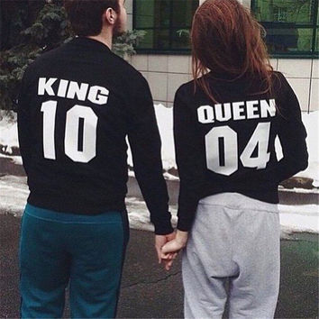 Alphabet Round-neck Couple Women's Fashion Hoodies [4956185796]