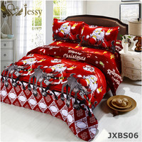 3D Bedding Sets Merry Christmas Santa Claus and Gift 4pc Duvet Cover Bed Sheet Pillow