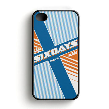 Ktm Motorcycle Six Days Finland Mx iPhone 4|4S Case