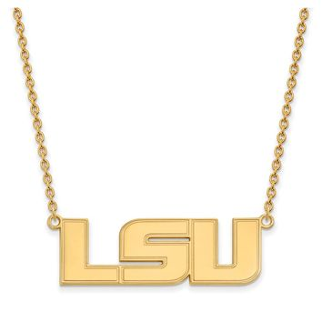 NCAA 14k Yellow Gold Louisiana State Large Pendant Necklace