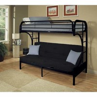 Acme Eclipse Twin/Full/Futon Bunk Bed, Black