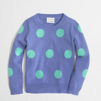 Factory girls' intarsia polka-dot popover