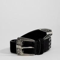 Sacred Hawk Faux Suede Western Belt at asos.com