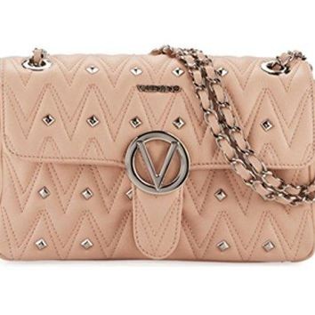 Valentino by Mario Valentino Antoinette Quilted Studded Leather Shoulder Bag - Quartz