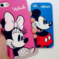Mickey and Minnie Mouse  -  iPhone 5 protective Case . Disney