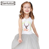 Sanlutoz Girls Clothes Summer Girl Dress Children Clothing 2016 Brand Fashion Cute Party Tutu Dress for Girls Toddler