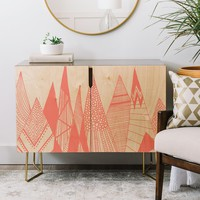 Viviana Gonzalez Patterns in the mountains Credenza   Deny Designs Home Accessories