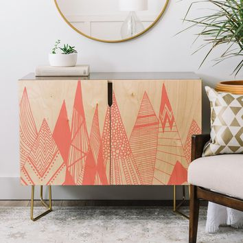 Viviana Gonzalez Patterns in the mountains Credenza | Deny Designs Home Accessories
