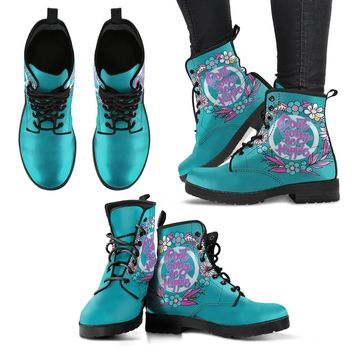 Dont Worry Be Hippie Women's Leather Boots
