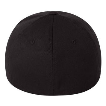 """Best Dad Ever Embroidery on a Flexfit Hat (L- XL (7 1/8"""" - 7 5/8""""), Black)"""