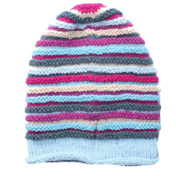 Slouchy Stripes Beanie Hat