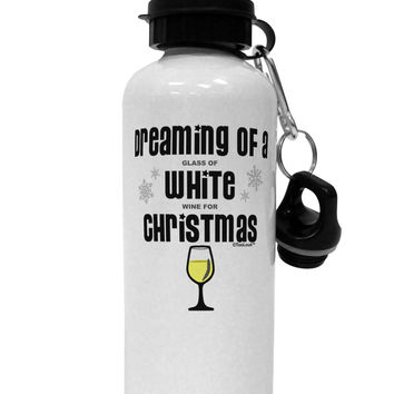 White Wine For Christmas Aluminum 600ml Water Bottle
