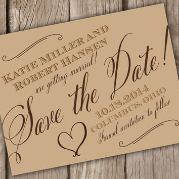 Best Rustic Save The Date Products on Wanelo