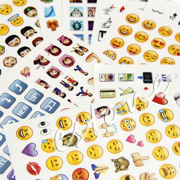 19 Pcs Emoji Stickers Pack