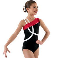 Asymmetrical Crisscross Gymnastic Leotard; Balera